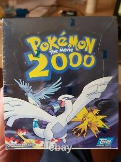 1 Brand New & Sealed Booster Box Pokemon Topps 2000 THE MOVIE Card Rare