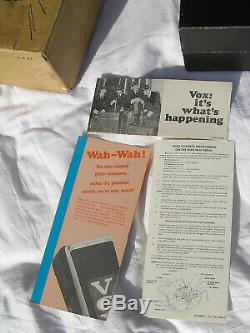 1968 Vox Clyde McCoy Script Wah Wah Mint in the Box Rare Halo New old stock 68