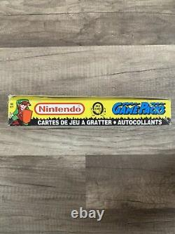 1989 O-Pee-Chee Nintendo Game Packs Series 2 Box OPC EXTREMELY RARE Super Mario