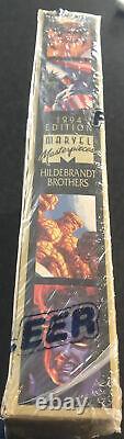 1994 Marvel Masterpieces JUMBO Box Factory Sealed Gold Holofoils 36 Packs RARE