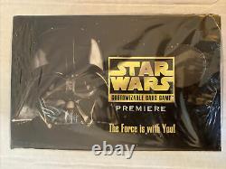 1995 Star Wars SW Premiere CCG Decipher Limited Booster black border Box sealed