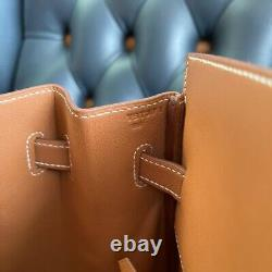 Auth Hermes Limited Edition Shadow gold color Birkin Bag 35 NEW Y Stamp Box RARE