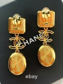 CHANEL EARRINGS RARE SOLD OUT 2020 Winter Huge Clip Ons NEW BOX PAPERS PRISTINE