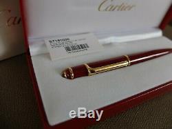 Cartier Diabolo Ballpoint Pen Very Rare! 100% NEW Complete W Box/Guarantee