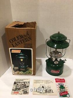 Coleman 200a Lantern Green Unfired With Original Box 4/82 Rare Vintage WOW