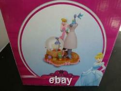 Disney Store RARE Cinderella Dress Making Snow Globe -NEW IN BOX