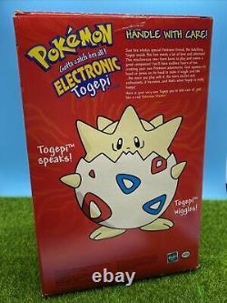 Electronic Talking TOGEPI Plush NEW IN BOX Rare 1998 Pokemon Stuffed Animal
