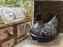 Emma Bridgewater Blue Hen On Nest Very Rare New In Box Discontinued