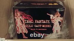 FINAL FANTASY VII FF 7 Cold Cast CLOUD VS SEPHIROTH original box RARE figure NEW