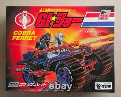 GI JOE ARAH Takara Japan 1986 MISB New Sealed Box E-21 COBRA FERRET rare vintage