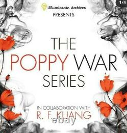 Illumicrate Poppy War Full Box Signed Sprayed Edges Items Rare Sold Out