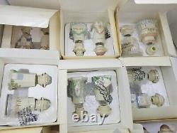 Lenox 1989 Spice Village 24 Vtg Porcelain Jars Orig Box Complete Set NOS Rare