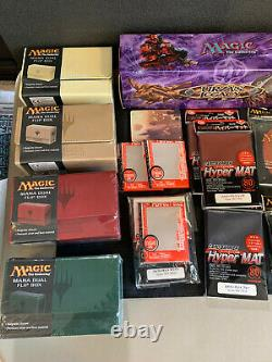 Magic the Gathering Collection Lot Sealed Booster Deck Box Sleeves MTG Modern