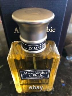 Mens Vintage Abercrombie & Fitch Woods Cologne 1.7 fl oz/50 mL Rare New Box