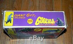 NEW in BOX 1985 VINTAGE GIANT 6' INFLATABLE GODZILLA IMPERIAL TOY COMPANY RARE
