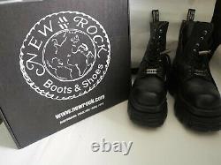New Rock Rare Combat Boots With Box M-newmili083-s21 Size 5 Eu38