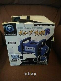 Nintendo GameCube Cube Rack Boxed Import Storage Accessory with Wheels Rare
