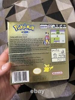 Pokemon Gold Version Gameboy Color Factory Sealed Dented Box Rare Trusted Seller