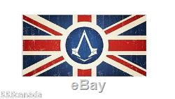 RARE! Assassins Creed WOODEN BOX UNION JACK FLAG BRITISH RED COAT SYNDICATE