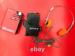 RARE! Sony wm-2 red new in box
