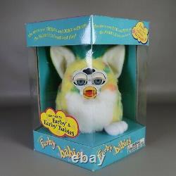 RARE Vintage Confetti Baby 1999 Furby Babies Blue Eyes NEW in Box Model 70-940