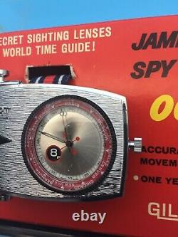 Rare 1965 James Bond 007 Gilbert/Glidrose Spy Wrist Watch Mint Boxed