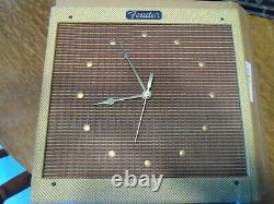 Rare 1980's Fender Sam Hutton Tweed Clock in Original Shipping box NOS