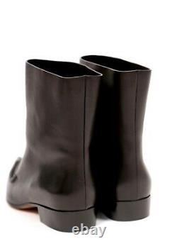 Rare! CELINE Phoebe Philo SANTIAG RUNWAY black flat boots 40 9.5 10 NEW With BOX