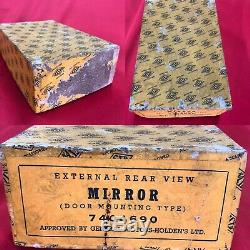 Rare Nos Fx Fj Fe Fc Fb Ek Ej Eh Holden Nasco Gmh Peep Mirror/box & Instructions