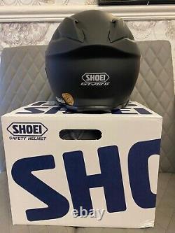 Rare Shoei Matt Black Motorbike Helmet Gt Air 2 Box