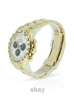 Rolex Daytona 116508 Rare Panda Dial 18k Yellow Gold 2020 Watch With Box Papers