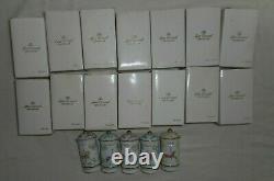 Set of 19 New LENOX The Spice Carousel Fine Porcelain 1993 Jars Box Rare Vintage
