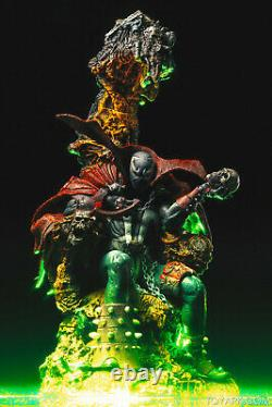 Spawn on Throne Spawn VII FIGURE Deluxe BOX Set Rare NEVER OPENED SEALED BOX