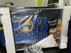 The Simpsons Moes Tavern Duff Beer Light Box Rare 2004 18X14X4
