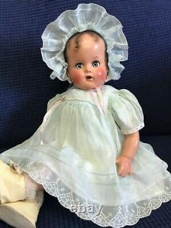 VTG 1940s NEW WBox Ideal Baby Beautiful Miracle 34th St 16 Doll RARE Blue Dress