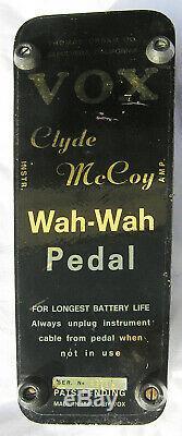 1968 Vox Clyde Mccoy Wah Wah Script Mint Dans La Boîte Rare Halo Nouveau Vieux Stock 68
