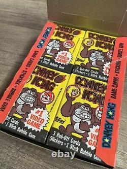 1982 Topps Donkey Kong Cartes À Échanger Full Box Première Sortie De Jeu Vidéo Rare