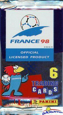 1998 Panini World Cup Soccer Factory Sealed Hobby Card Box-210 Cartes! Très Rare