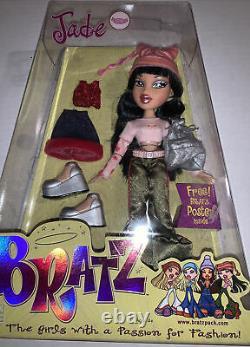 2001 Vintage Première 1ère Édition Bratz Jade Doll Nouveau Dans La Boîte W Vêtements Chaussures Rare