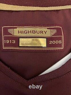 2005-06 Arsenal Highbury Accueil Limited Edition Boxed Shirt Extrêmement Rare Nike