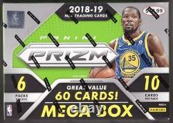 2018-19 Prizm Basketball Mega Box! Rare Boîte De 60 Cartes Et Glace Rouge Fissurée! Luka