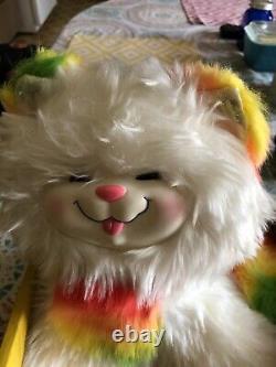 # 2411 Rare Boîte Originale Vintage 1983 Mattel Arc-en-brite Kitty Brite En Peluche De Chat