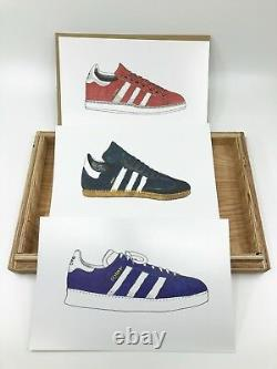 Adidas Très Rare Art Ad Célébrer L'originalité Wood Box Affiches 2006 Sneaker