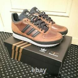 Adidas X Barbour Ts Runner Trainers En Cuir Rare Newithboxed/tags 8.5
