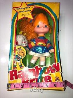 Arc-en-brite 1983 Vintage Neuf Dans La Boîte Minets Sprite No. 7233 Super Rare Mattel