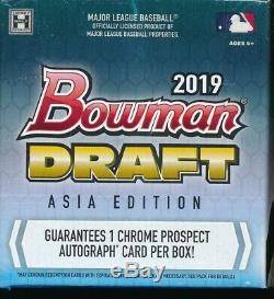 Asie Édition 2019 Bowman Projet Chrome Jumbo Hobby Box (1) Neuf Très Rare