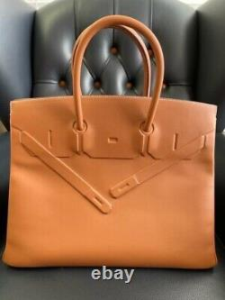 Auth Hermes Limited Edition Shadow Couleur Or Birkin Sac 35 New Y Stamp Box Rare