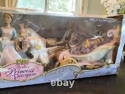 Barbie Princess And The Pauper Royal Carrier Giftset Nouveau Dans La Boîte Endommagée Rare