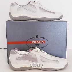 Baskets Prada America's Cup, Super Rare, Blanc, Sz 10 Incl Couverture De Poussière / Boîte