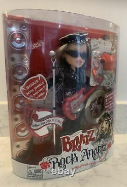 Bratz Rock Angelz Collectionnable Jade Doll Rare Avec Chapeau De Motard, Nouveau En Boîte
